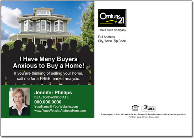 Real Estate Postcard, Century 21 Farming Postcards