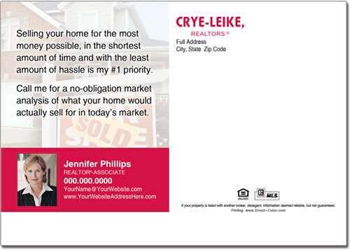 Real Estate Postcards, Crye Leike Postcards