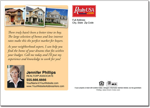 Real Estate Postcards, Realty USA Postcards
