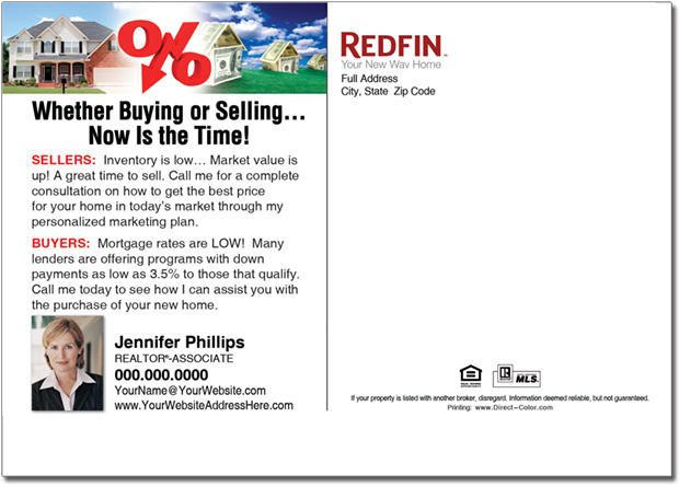 Real Estate Postcards, Redfin Postcards