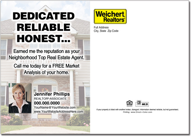 Real Estate Postcard, Weichert Postcards