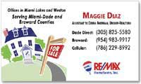 Real Estate Business Card Magnets