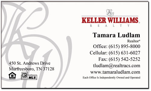 Keller Williams Business Cards Business Card