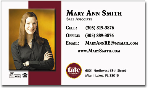 Real estate business cards business card mortgage business card magnets bre 056 reheart Image collections