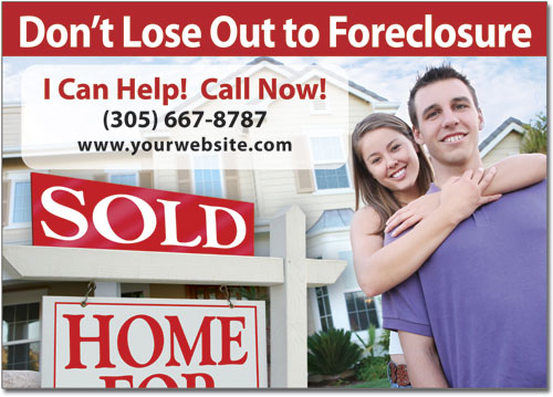 Foreclosure Marketing Postcards