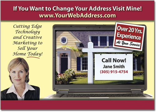 Real Estate Website Postcards, Marketing Postcard, Advertising Post card, Custom Post cards