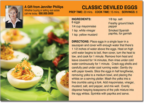 Deviled Eggs Recipe Postcards