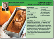 Pumpkin Bread Recipe Postcards