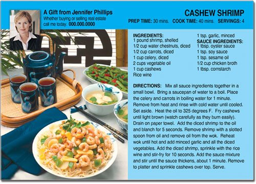 Real Estate Chinese Recipe Postcards