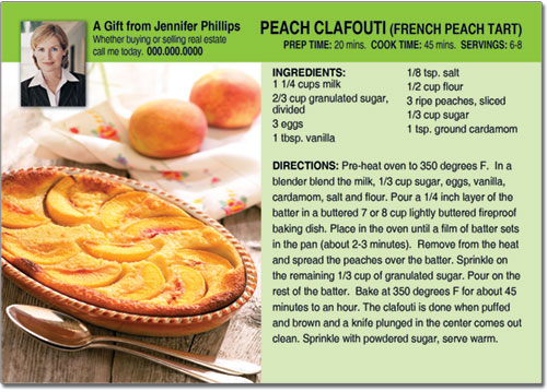 Realtor Recipe Post Cards