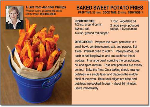 Sweet Potatoe Recipe Postcards