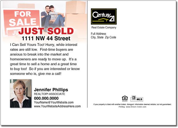Real Estate Postcard, Century 21 Postcards