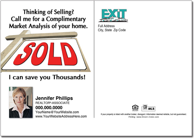Real Estate Postcard, Exit Postcards