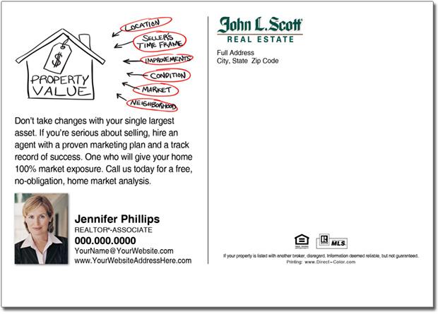 Real Estate Postcard, John L Scott Farming Postcards