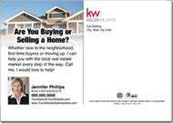 Real Estate Back of Postcard, Keller William Card