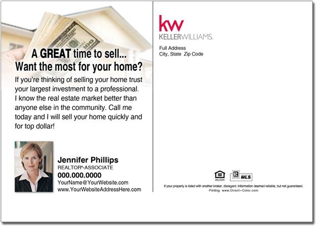 Real Estate Postcard, Keller William Postcards