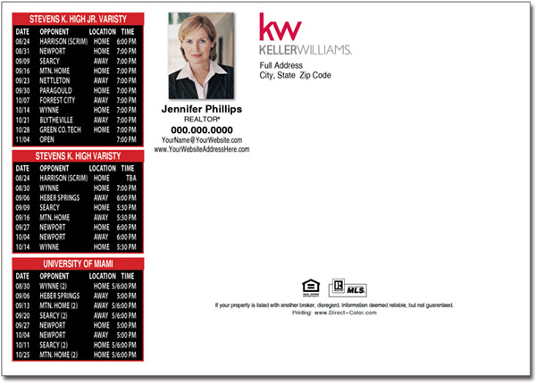 Real Estate Postcards Keller Williams Postcards