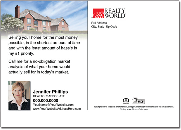 Real Estate Postcard Realty World Farming Postcards
