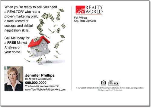 Real Estate Postcard, Realty World Postcards