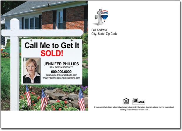 Real Estate Postcards, Remax Real Estate Sign Postcard