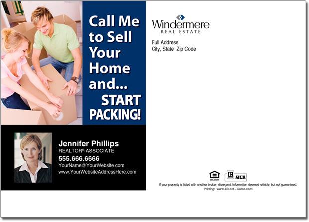 Real Estate Postcard, Windermere Postcards
