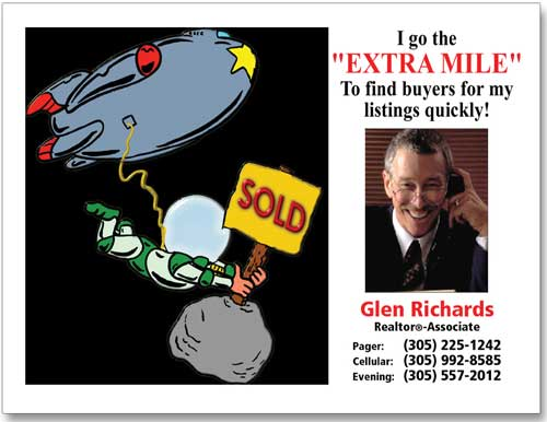 Cheap Realtor Postcard