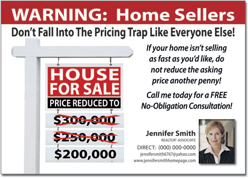 Home Sellers Postcards, Marketing Post card, Post cards