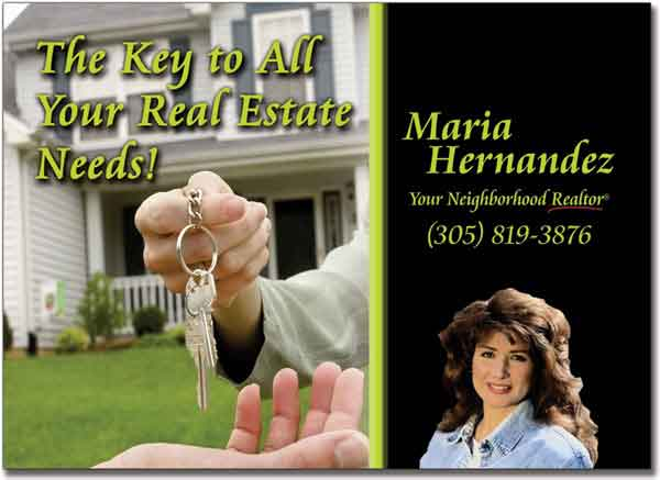 Real Estate Key Postcards, Marketing Postcard, Advertising Post card, Custom Post cards