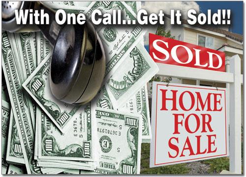 Real Estate Sign Postcard