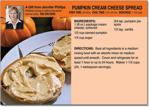 Autumn Recipe Postcard