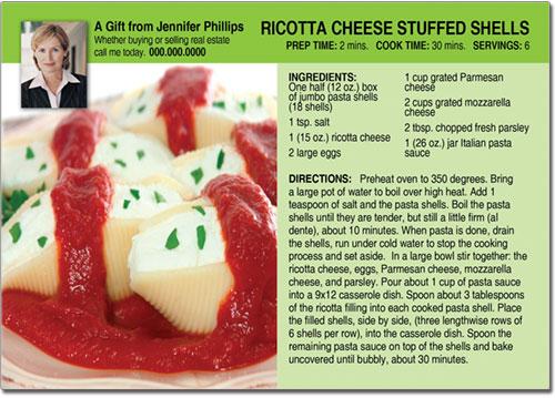 Pasta Recipe Post Cards