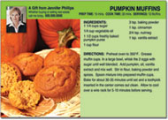 Pumpkin Muffin Recipe Postcards