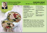 Realtor Chicken Wrap Recipe Postcard