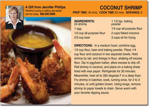 Shrimp Recipe Postcards