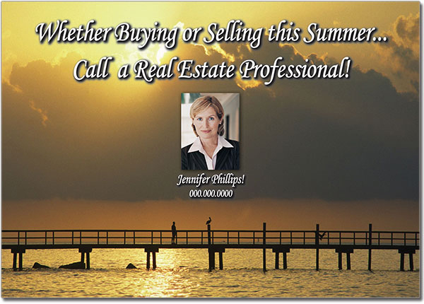Summer Real Estate Postcards
